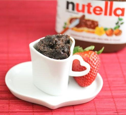 Flourless Mug Cake Nutella