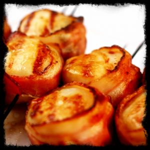 Bacon Wrapped Grilled Scallops