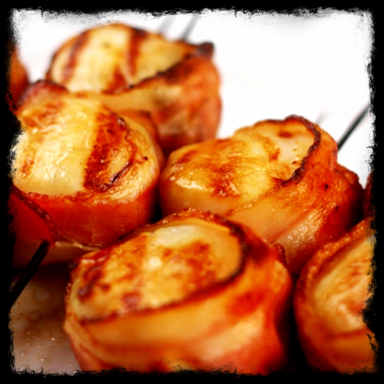 Bacon Wrapped Grilled Scallops | Girl Plus Food