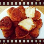 Fried Garlic & Sharp Cheddar Mashed Potato Balls