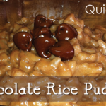 Easy Chocolate Rice Pudding!