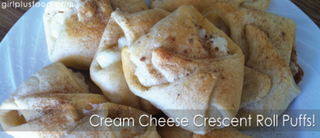 Cream Cheese Crescent Roll Puffs!