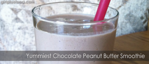 Yummiest Chocolate Peanut Butter Smoothie