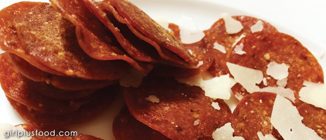 Easy Crispy Pepperoni Chips!