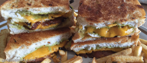 Sharp Cheddar Grilled Cheese With Bacon and Guacamole!