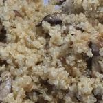 Garlic and Mushroom Quinoa