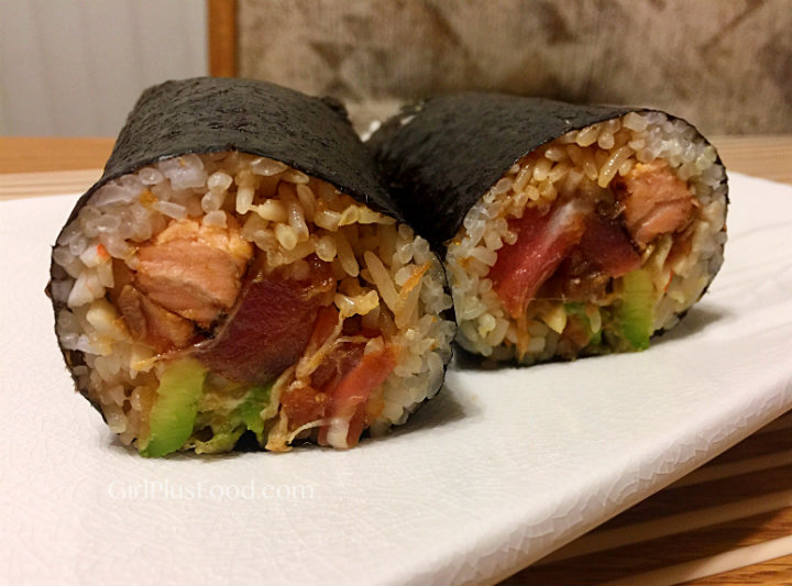 GirlPlusFood.com Sushi Burrito Recipe!